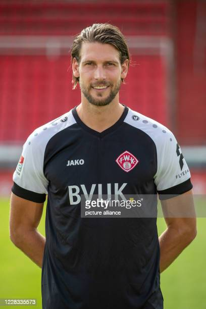 September 2020, Bavaria, Würzburg: Football, 2nd Bundesliga: FC Würzburger Kickers. Würzburg's goalkeeper Fabian Giefer at the official photo session...