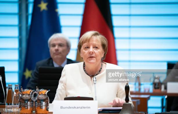 September 2020, Berlin: Chancellor Angela Merkel attends the meeting of the Federal Cabinet in the Federal Chancellery. One of the topics will be the...