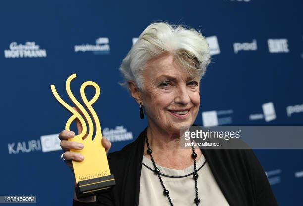 September 2020, Berlin: The actress Nicole Heesters holds her award, the theatre prize, after the award of the German Acting Prize. The award has...