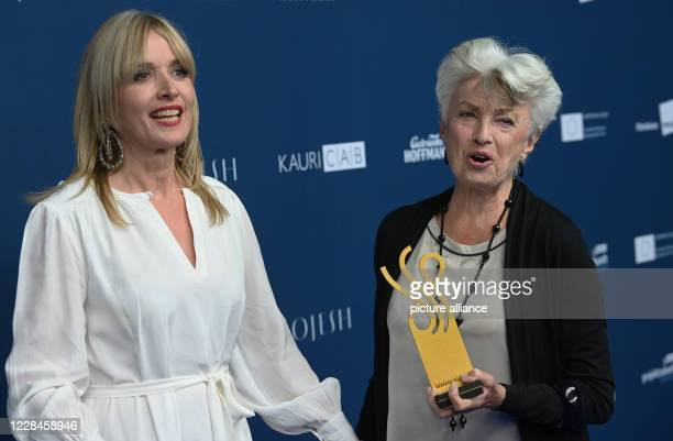 September 2020, Berlin: The actress Nicole Heesters will hold her award, the theatre prize, after the presentation of the German Acting Prize,...