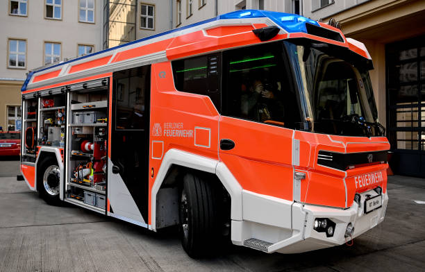 DEU: Berlin Fire Brigade Presents Fire Truck With Electric Engine