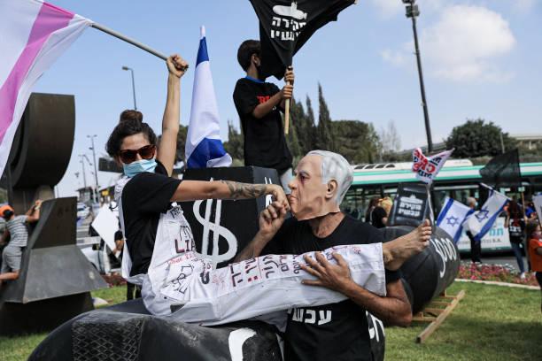 ISR: Anti-Coronavirus Lockdown Protest In Jerusalem
