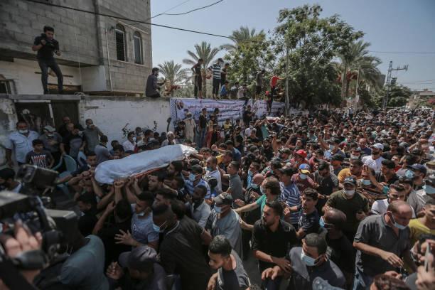 GZA: Funeral Of Two Palestinian Fishermen Killed In Mediterranean Sea