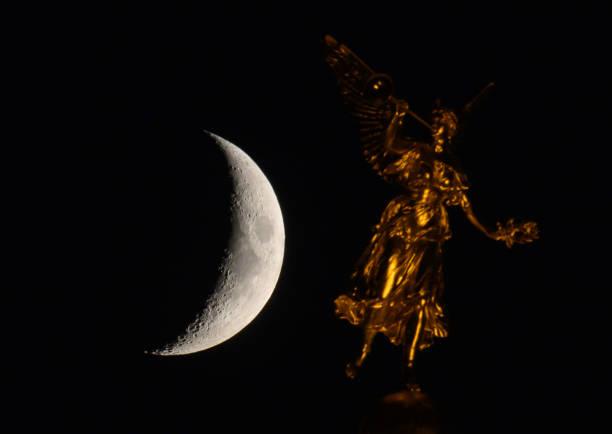 DEU: Crescent Moon In Dresden
