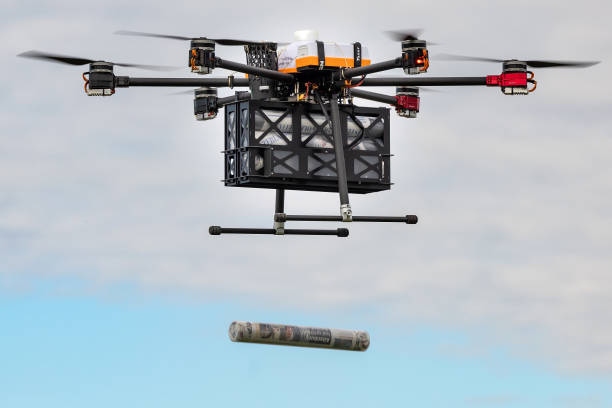DEU: Newspaper Delivery By Automatically Flying Drone