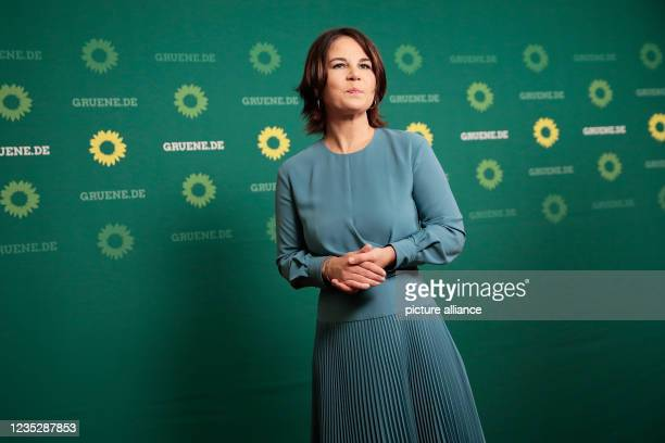 September 2021, Berlin: Annalena Baerbock , federal chairwoman and candidate for chancellor, welcomes the guests at a meeting with influential women...