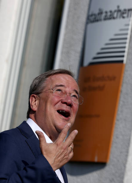 DEU: Federal Election - Voting Laschet CDU