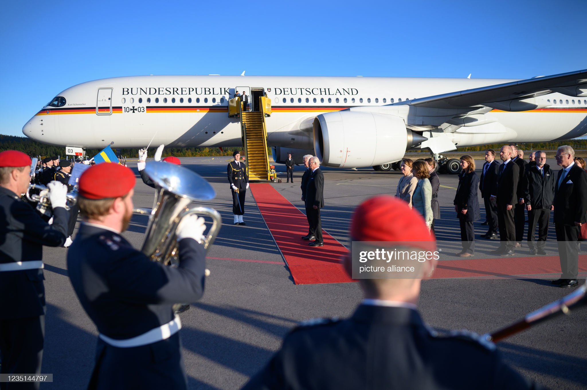 Federal President Steinmeier in Sweden : News Photo
