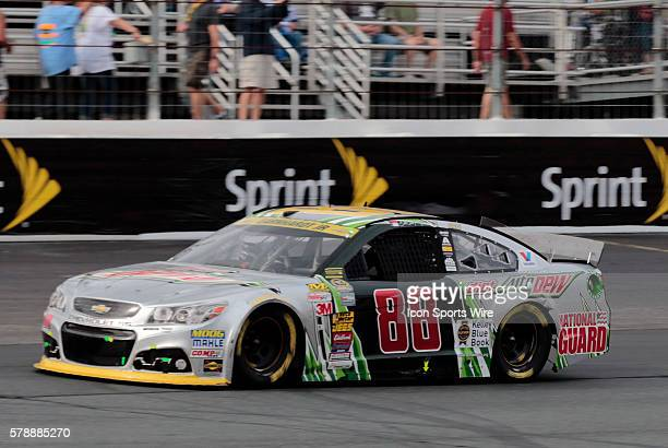 NASCAR Chase contender Dale Earnhardt Jr driver of the Diet Mountain Dew Chevrolet during the Sylvania 300 at New Hampshire Motor Speedway in Loudon...