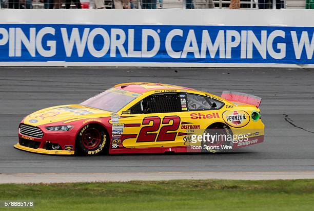 NASCAR Chase contender Joey Logano driver of the Shell/Pennzoil Ford during the Sylvania 300 at New Hampshire Motor Speedway in Loudon NH