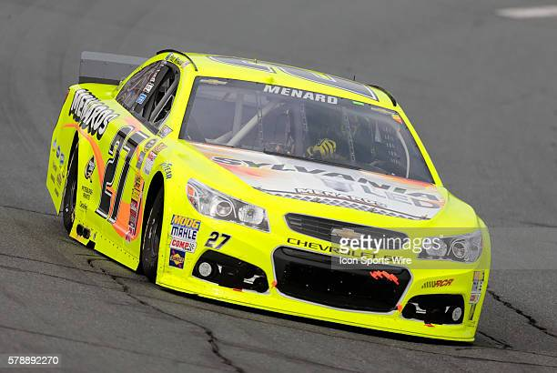 Paul Menard NASCAR Sprint Cup Series driver of the Sylvania/Menards Chevrolet during the Sylvania 300 at New Hampshire Motor Speedway in Loudon NH