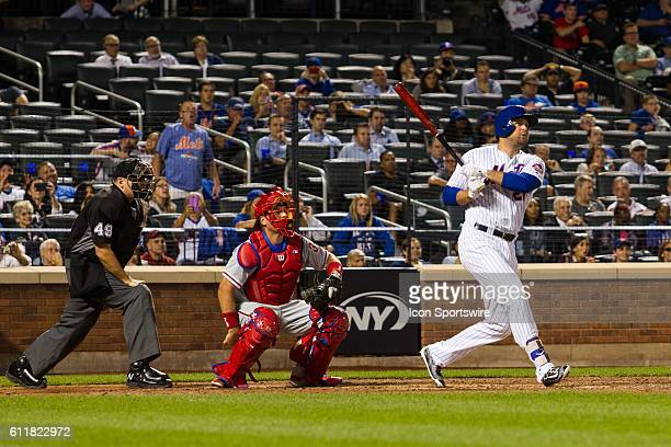 New York Mets First base Lucas Duda [7530] at the plate in the bottom of the 11th inning of a regular season game between the Philadelphia Phillies...