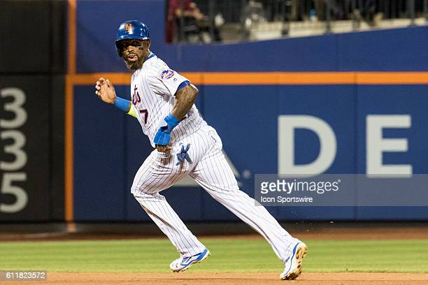 New York Mets Infield Jose Reyes [3276] rounds second on a single by Cabrera in the seventh inning of a regular season game between the Philadelphia...