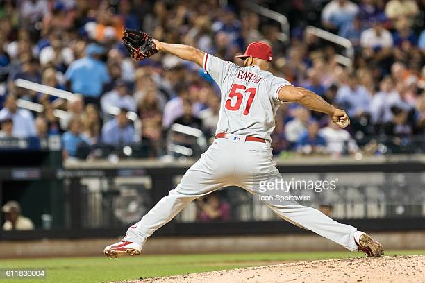 Philadelphia Phillies Pitcher Luis Garcia [9007]on the mound in the sixth inning of a regular season game between the Philadelphia Phillies and the...