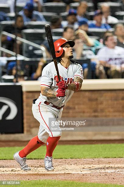 Philadelphia Phillies Shortstop Freddy Galvis [8264] at the plate in the third inning of a regular season game between the Philadelphia Phillies and...