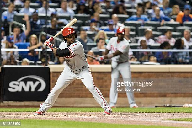 Philadelphia Phillies Third base Maikel Franco [9867] at the plate in the second inning of a regular season game between the Philadelphia Phillies...