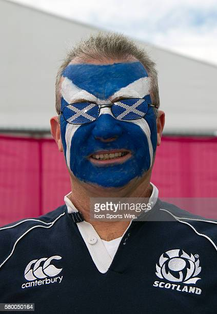 Scottish fans at Kingsholm anxiously awaiting the match-up between Japan v Scotland at the 2015 Rugby World Cup in Gloucester, England.
