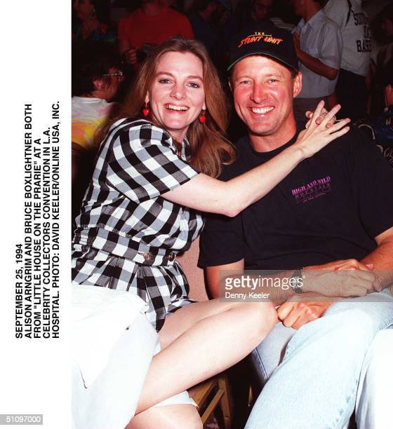 September 24 1994 Alison Arngrim Bruce Boxlightner Of 'Little Hous Eon The Prarie' Attending A Celebrity Collectors Event At Beverly Garland Hotel In...