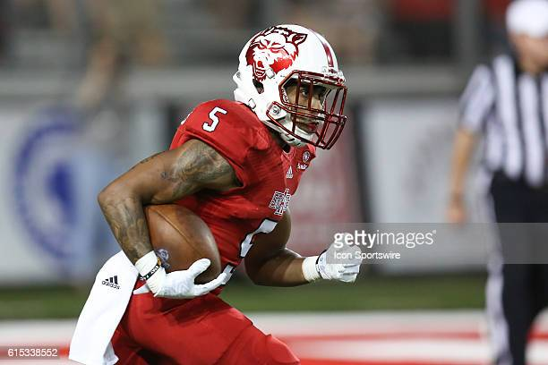 Arkansas State running back Daryl RollinsDavis returns a kick off during the Arkansas State Red Wolves against the Central Arkansas Bears at...