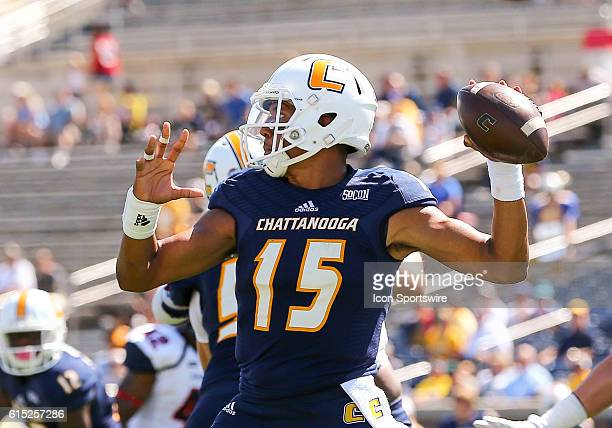 Chattanooga Mocs quarterback Alejandro Bennifield in action during the game between Samford and UT Chattanooga Chattanooga defeats Samford 41 21 at...