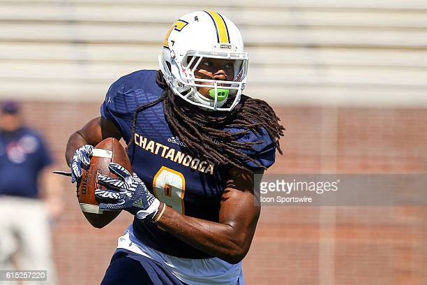 Chattanooga Mocs wide receiver Alphonso Stewart in action during the first half of the game between Samford and UT Chattanooga Chattanooga defeats...