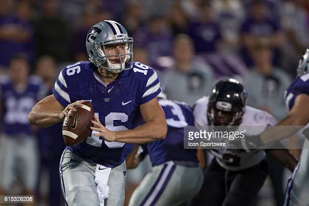 Kansas State Wildcats quarterback Jesse Ertz during the NCAA nonconference division one game between the Missouri State Bears and the Big 12 Kansas...