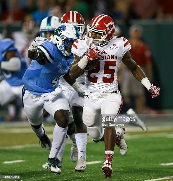 LouisianaLafayette Ragin Cajuns running back Ashton Johnson during the first half of the game between the Tulane and the LouisianaLafayette at Benson...