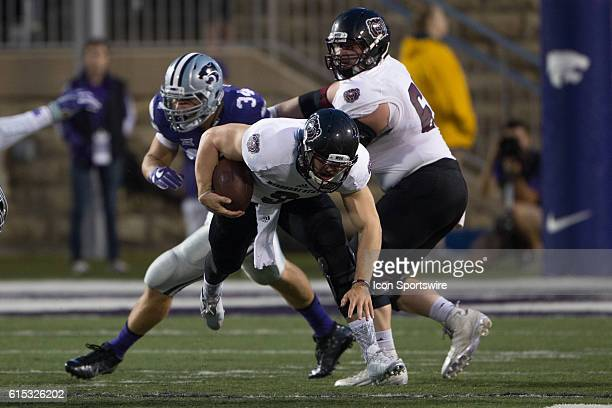 Missouri State Bears quarterback Brodie Lambert during the NCAA nonconference division one game between the Missouri State Bears and the Big 12...