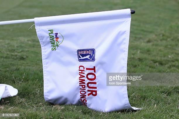 The Tour Championship flag during the third round of the 2016 PGA Tour Championship at East Lake Golf Club in Atlanta Georgia