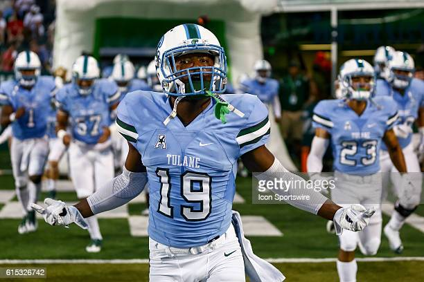 Tulane Green Wave cornerback Taris Shenall during the first half of the game between the Tulane and the LouisianaLafayette at Benson Field at Yulman...
