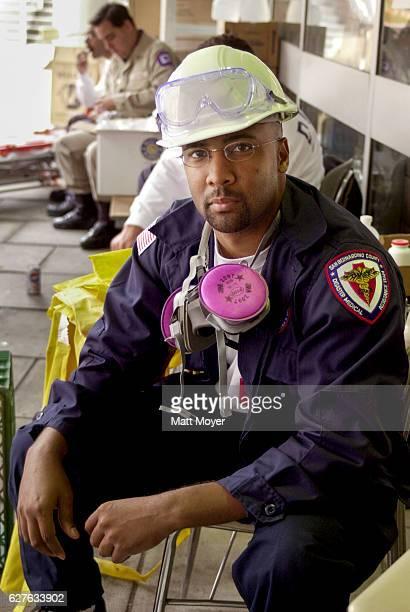 September 25, 2001: Kurt Wilson, a city councilman in Rialto, California and a member of the San Bernardino Disaster Medical Assistance Team,...