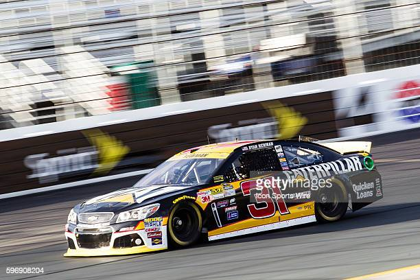 NASCAR Sprint Cup Series Chase contender Ryan Newman driver of the Caterpillar Chevy makes his qualifying run for Sunday's NASCAR Sprint Cup Series...