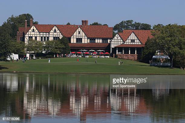 A general view of the clubhouse during the final round of the 2016 PGA Tour Championship at East Lake Golf Club in Atlanta Georgia