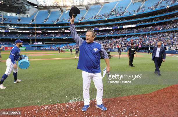 TORONTO ON September 26 Outgoing Manager John Gibbons acknowledges the crowd following the game The Toronto Blue Jays beat the Houston Astros 31 in...