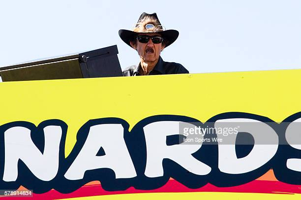 Richard Petty on top of the Nathan's Famous hauler during Saturday mornings practice for the NASCAR Sprint Cup Series AAA 400 at Dover International...