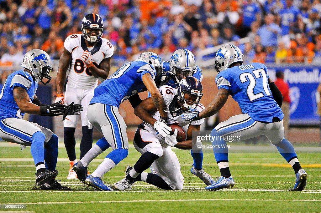 NFL: SEP 27 Broncos at Lions : News Photo