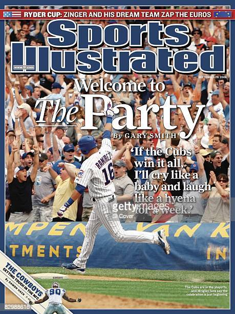 September 29 2008 Sports Illustrated Cover Baseball Chicago Cubs Aramis Ramirez victorious rounding bases after hitting game winning walk off solo...