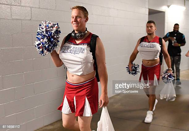 Chicago Cubs starting pitcher Rob Zastryzny leaves the clubhouse on the Cubs football jersey trip after the game between the Pittsburgh Pirates and...