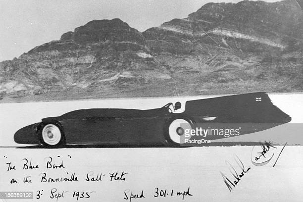 England's Sir Malcolm Campbell became the first man to go over 300 mph on land when he ran a twoway average speed of 301129 mph on the Bonneville...