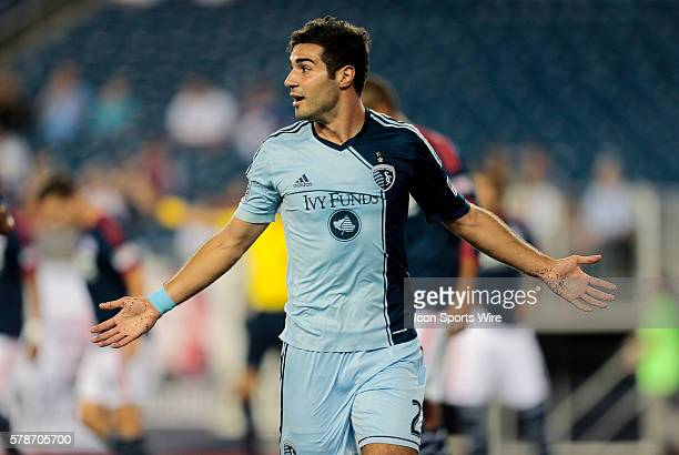 Sporting Kansas City's Soony Saad celebrates his goal The New England Revolution defeated Sporting Kansas City 31 in a regular season Major League...
