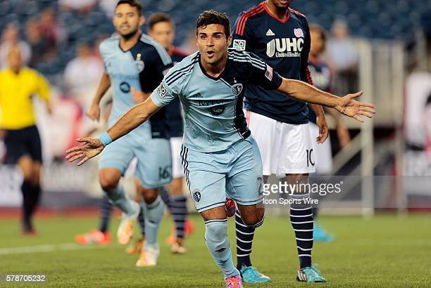 Sporting Kansas City's Soony Saad reacts to his goal The New England Revolution defeated Sporting Kansas City 31 in a regular season Major League...