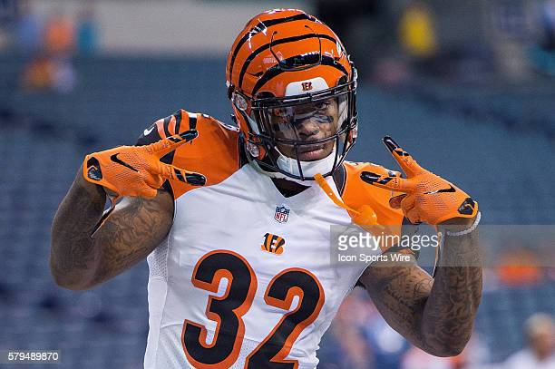 Cincinnati Bengals running back Jeremy Hill poses for the camera before a week 4 preseason NFL game between the Indianapolis Colts and Cincinnati...