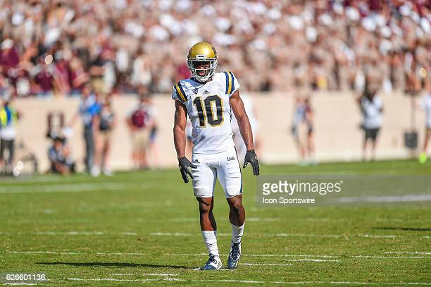 UCLA Bruins defensive back Fabian Moreau during the UCLA Bruins vs Texas AM Aggies game at Kyle Field College Station Texas