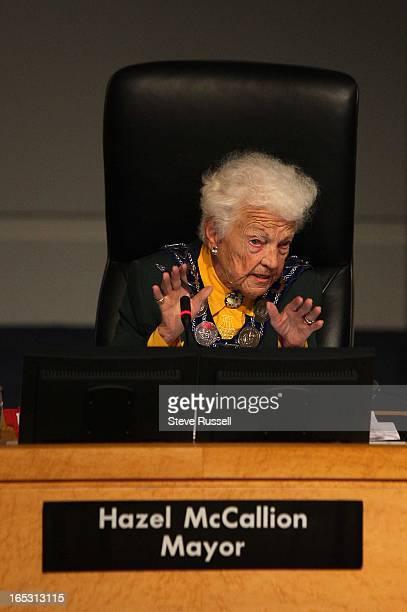 September 30, 2009 Mayor Hazel McCallion listens to a deputation concerning Public Question Period. Mayor Hazel McCallion later vacated the seat so...