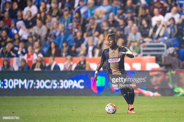 Philadelphia Union midfielder Maurice Edu looks to pass during the US Open Cup Final match between the Philadelphia Union and FC Kansas City played...
