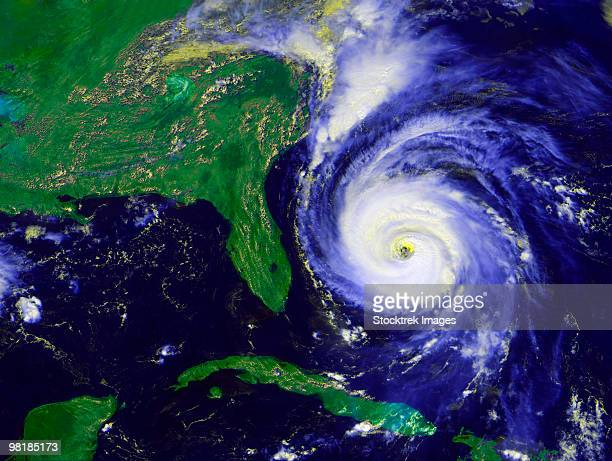 september 4, 1996 - hurricane fran - orkaan stockfoto's en -beelden
