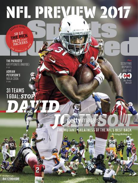 September 4 2017 September 11 2017 Sports Illustrated Cover NFL Season Preview Composite photo of Arizona Cardinals David Johnson Photo Illustrations...