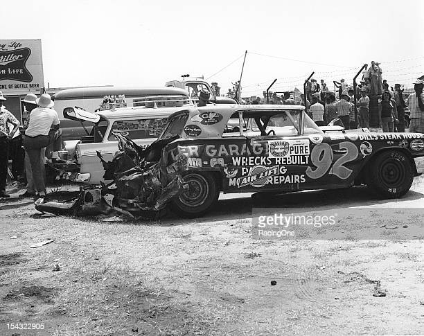 September 5, 1960: Car owner Gerald Duke was in need of his own sponsor's services after his driver Elmo Langley was involved in a lap 25 crash...