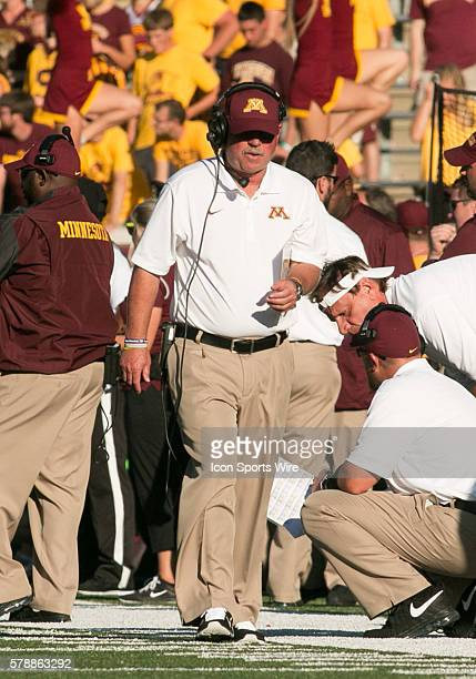 Head coach Jerry Kill during game verses Middle Tennessee State University at TCF Bank StadiumMinneapolis Minnesota