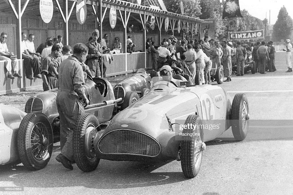 Eugene Chaboud - 1947 Italian Grand Prix : News Photo